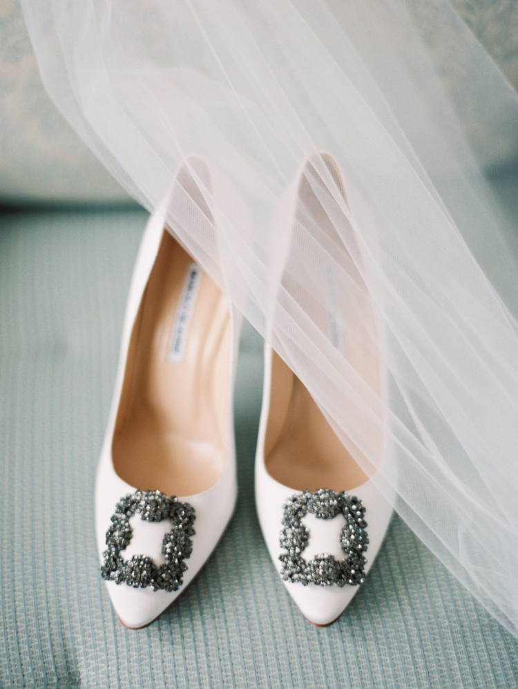 Manolo Blahnik white wedding shoes