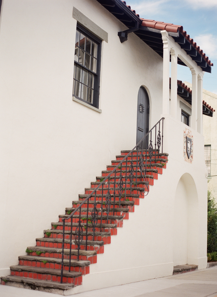 Spanish style steps and terracotta roofing
