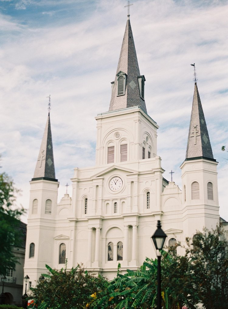 Beautiful shot of the St. Louis Cathedral in Jackson Square in New Orleans, LA