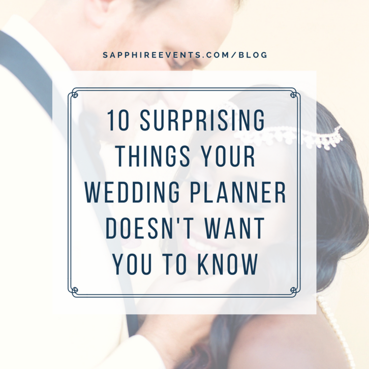 10 secrets your wedding planner doesn't want you to know