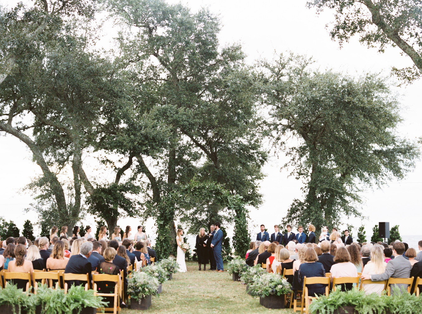 Outdoor Tent Wedding Reception with a Stormy Surprise