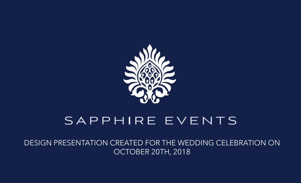 sapphire events design plan cover page for wedding venue design plans at the monastery