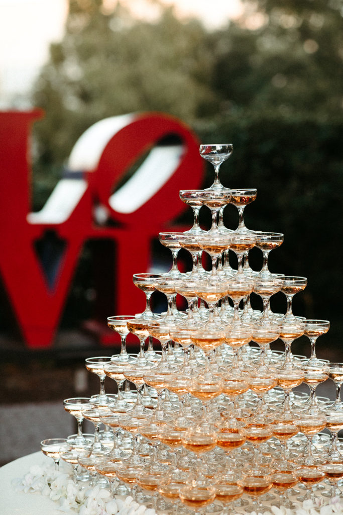 Champagne Tower From Sapphire Events